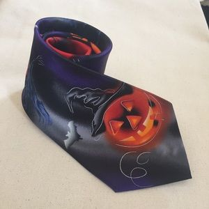 Jerry Garcia Halloween Tie 100% Silk Colorful